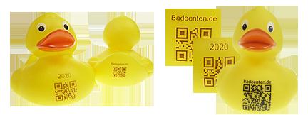 Badeenten mit QR Code