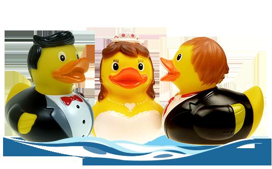 Badeenten Hochzeit