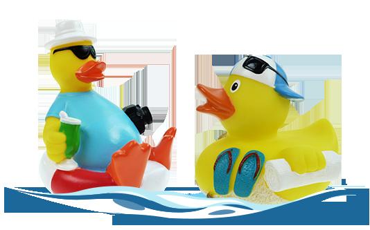Badeenten für die Sommerzeit