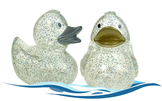 Badeenten Gladys und Gary Glitter