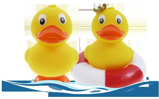 Badeenten-Sweeties mit Krone und Schwimmring