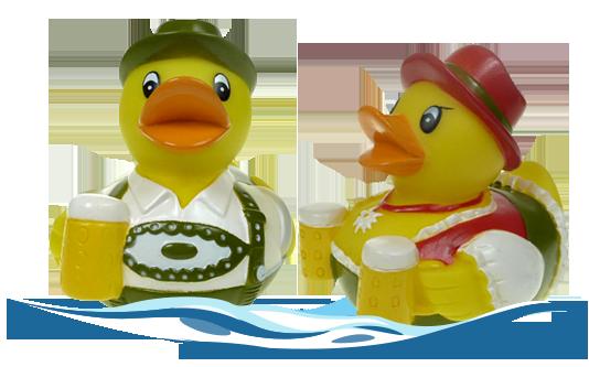 Badeenten Vroni von der Wiesn und Alois Ozapft
